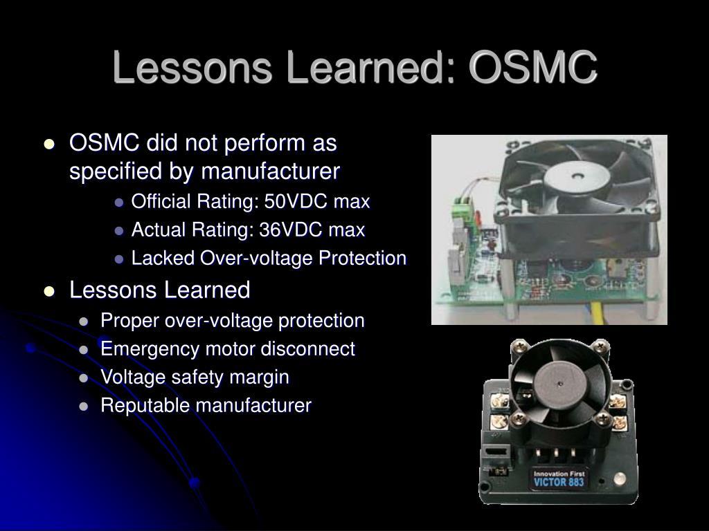 Lessons Learned: OSMC