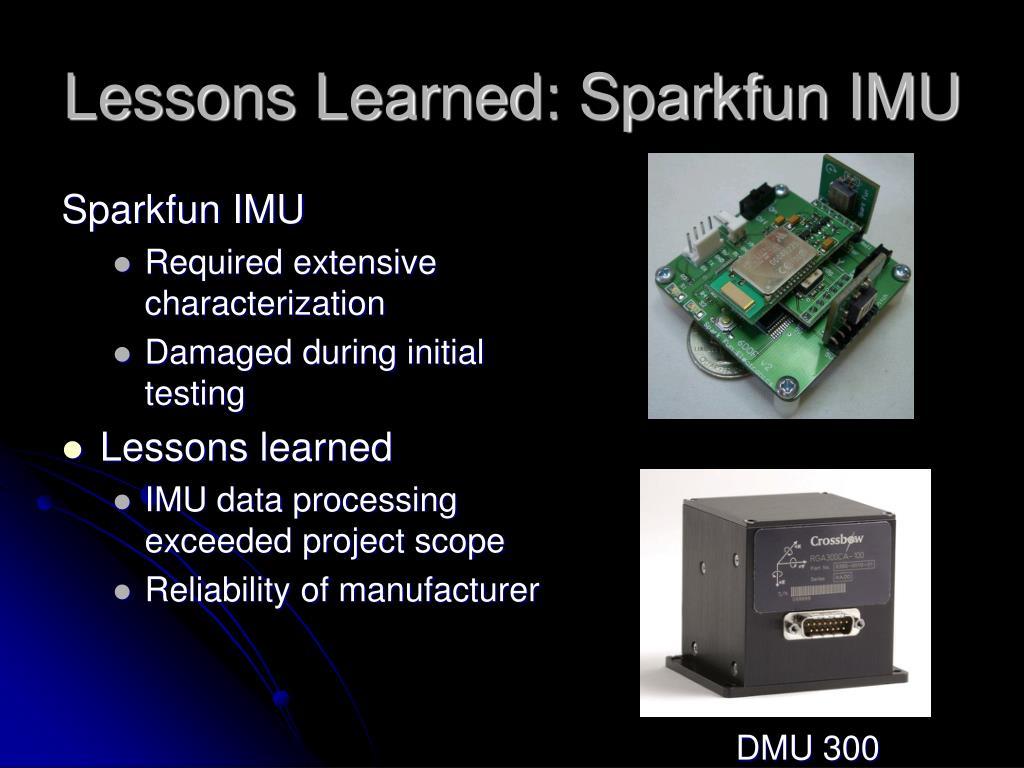 Lessons Learned: Sparkfun IMU
