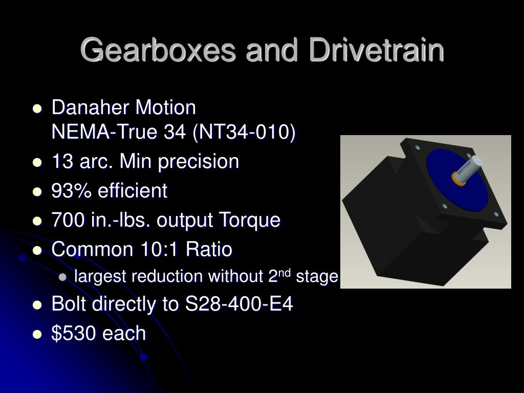 Gearboxes and Drivetrain