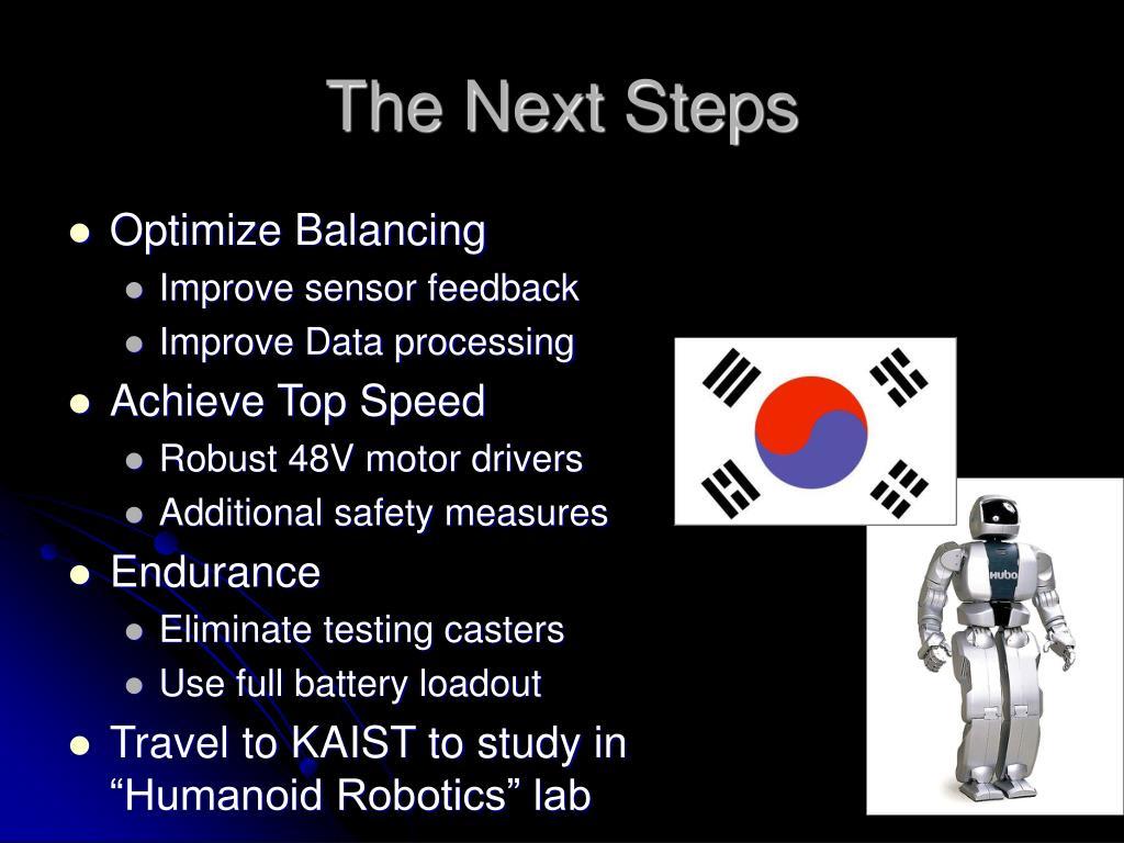 The Next Steps