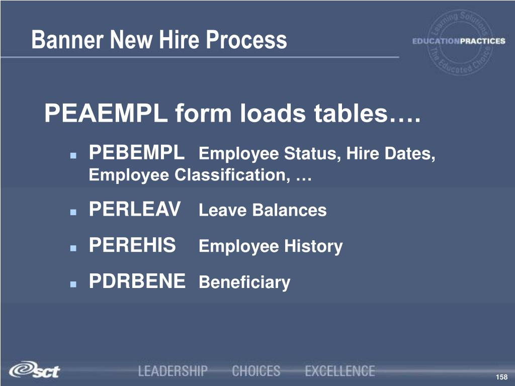 Banner New Hire Process