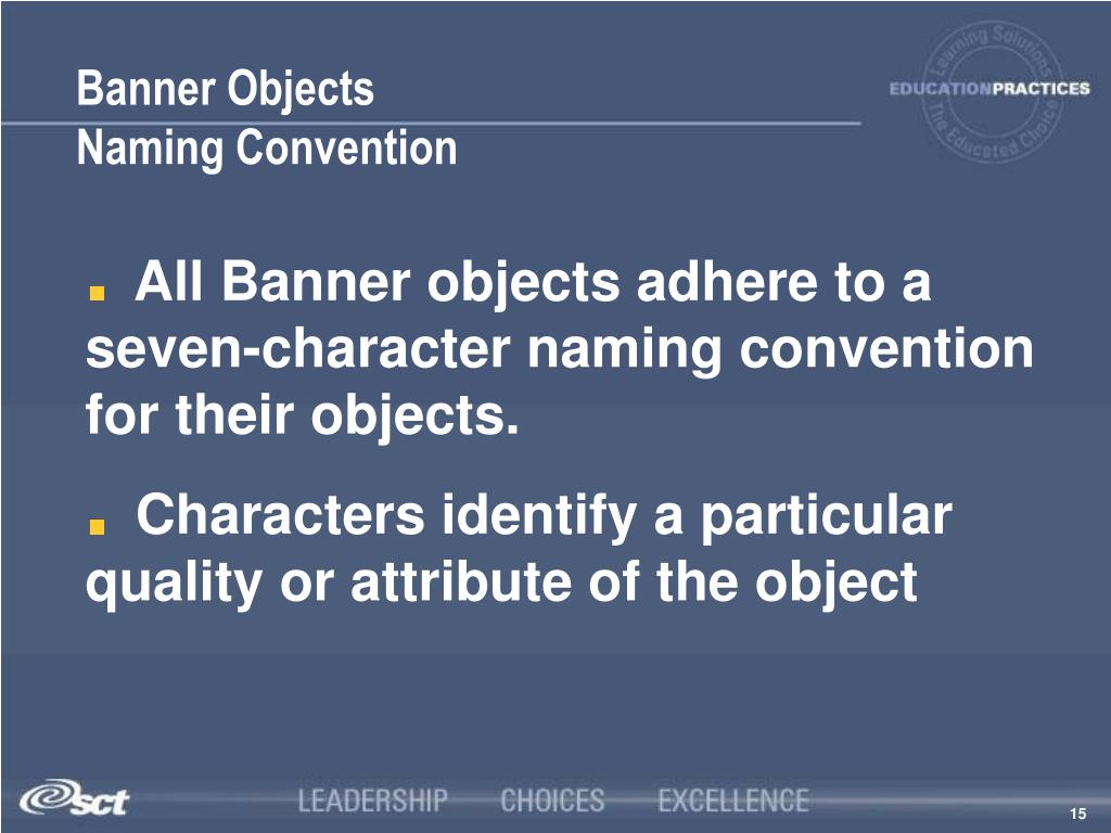 Banner Objects