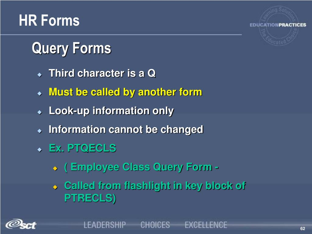 Query Forms