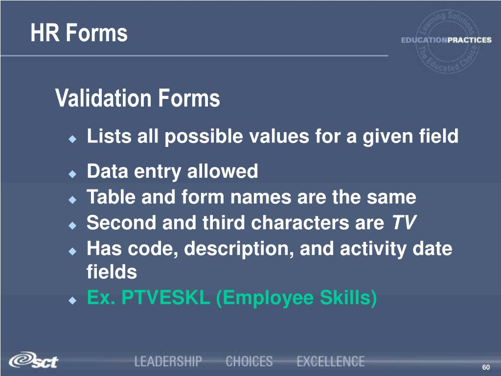 Validation Forms