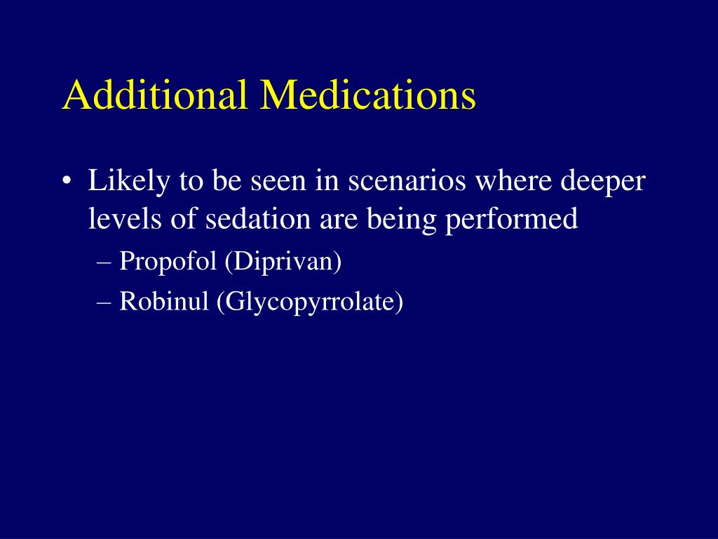 Additional Medications