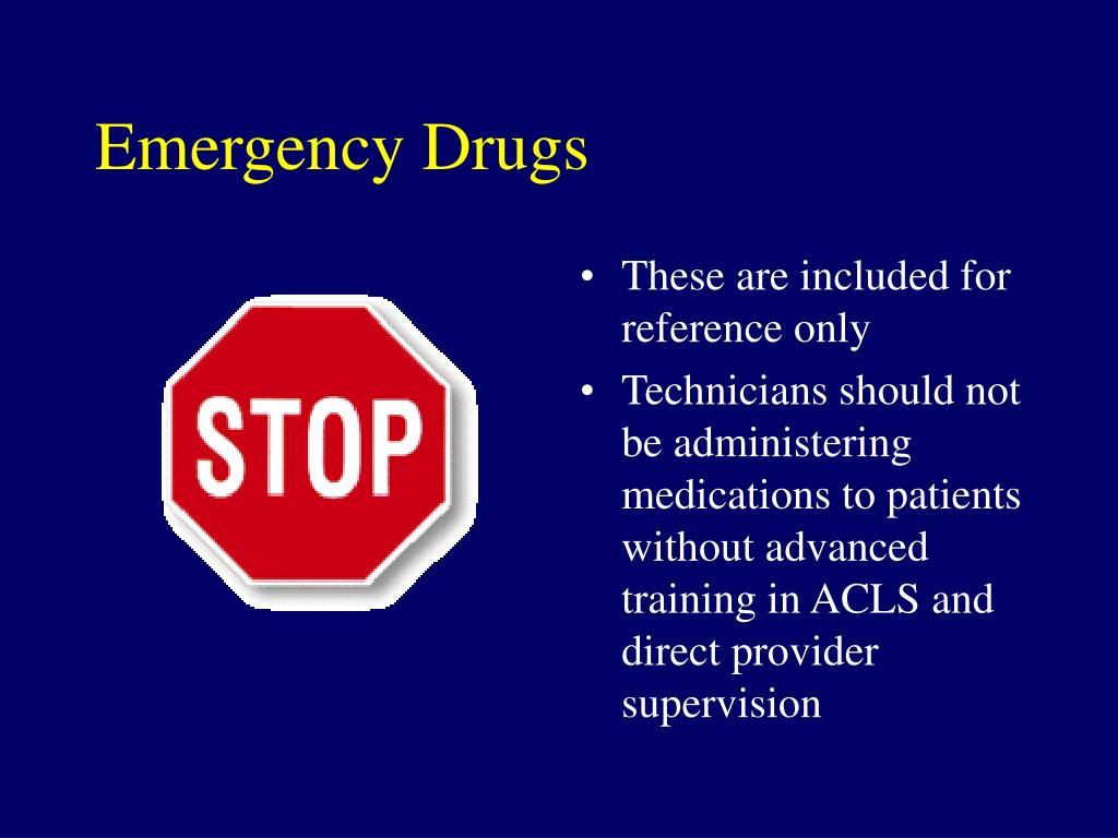 Emergency Drugs