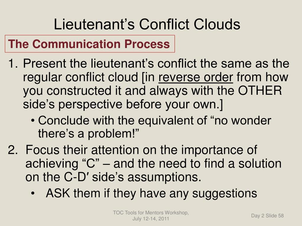 Lieutenant's Conflict Clouds