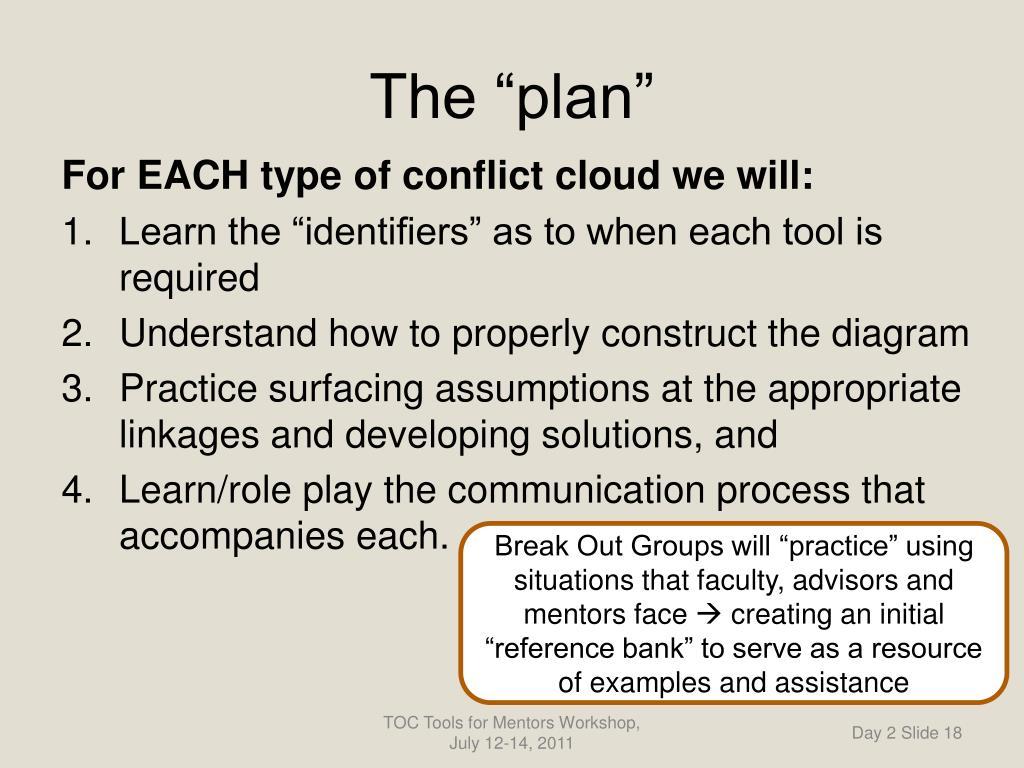 "The ""plan"""