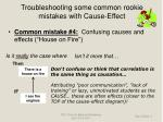 troubleshooting some common rookie mistakes with cause effect11