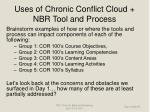 uses of chronic conflict cloud nbr tool and process