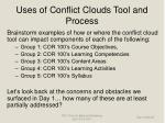uses of conflict clouds tool and process