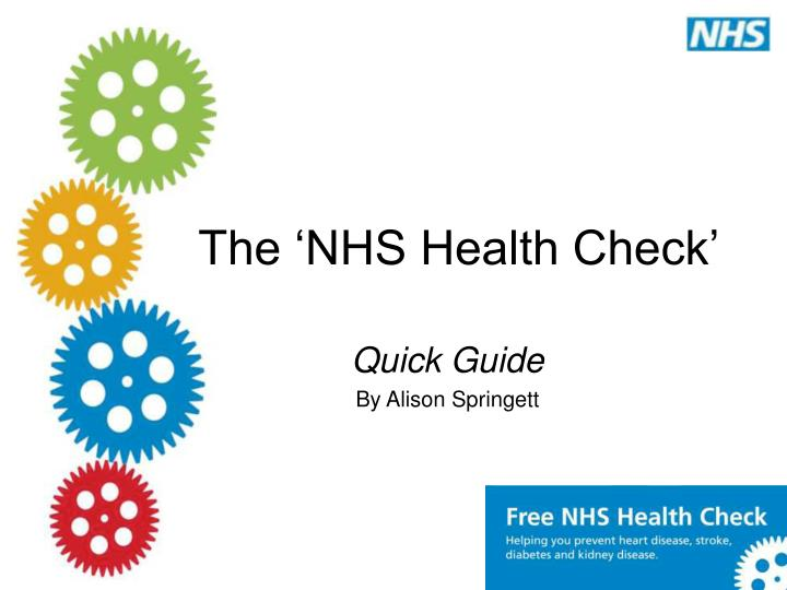 The nhs health check