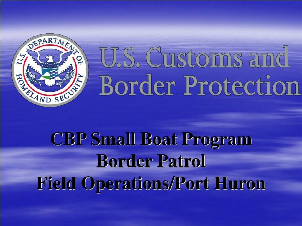 CBP Small Boat Program