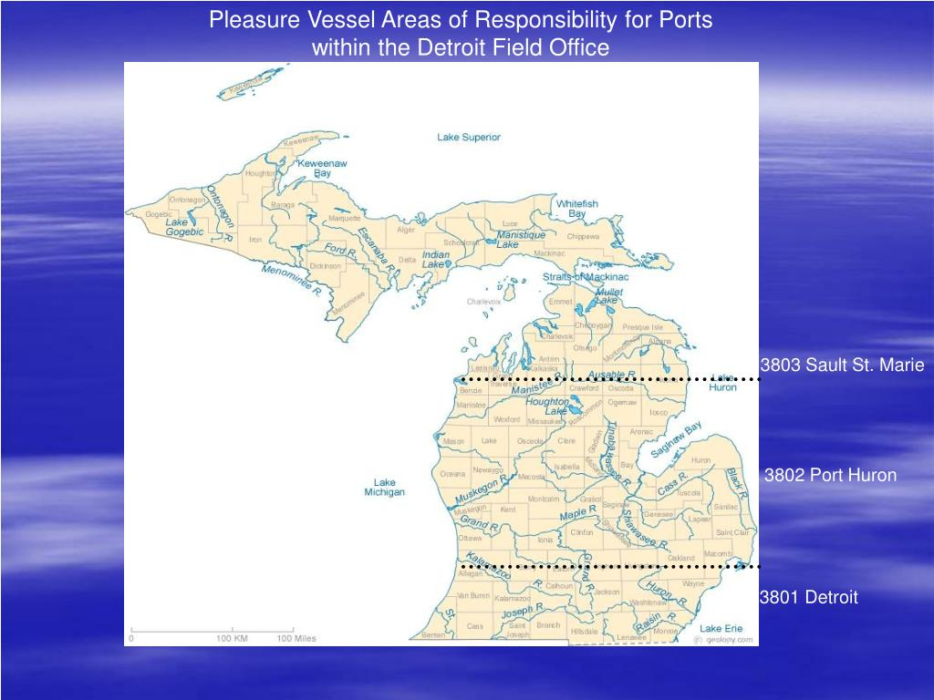 Pleasure Vessel Areas of Responsibility for Ports