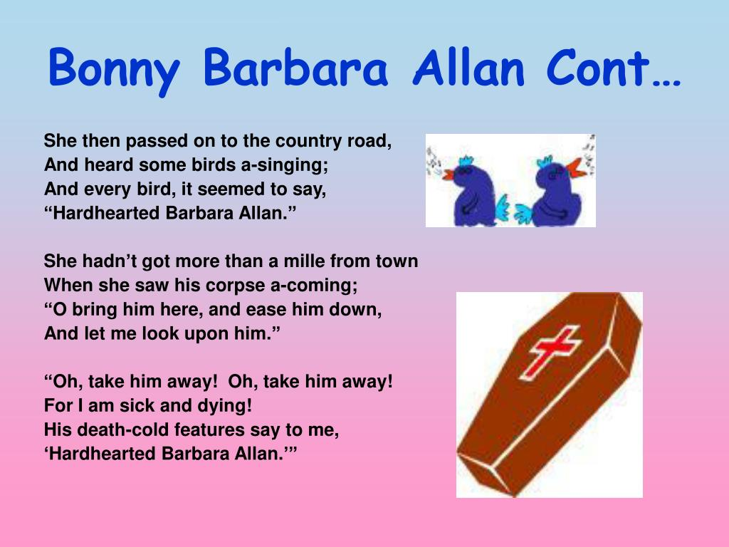 An analysis of bonny barbara allan