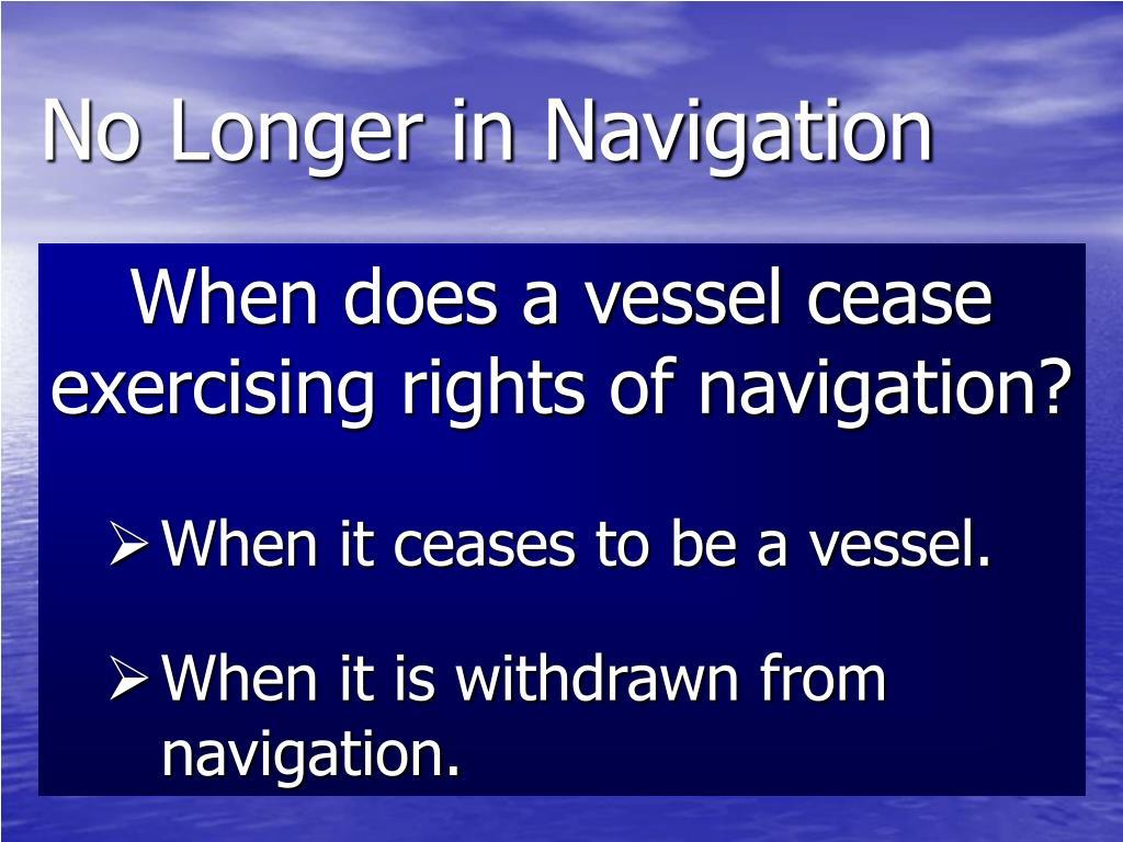 No Longer in Navigation