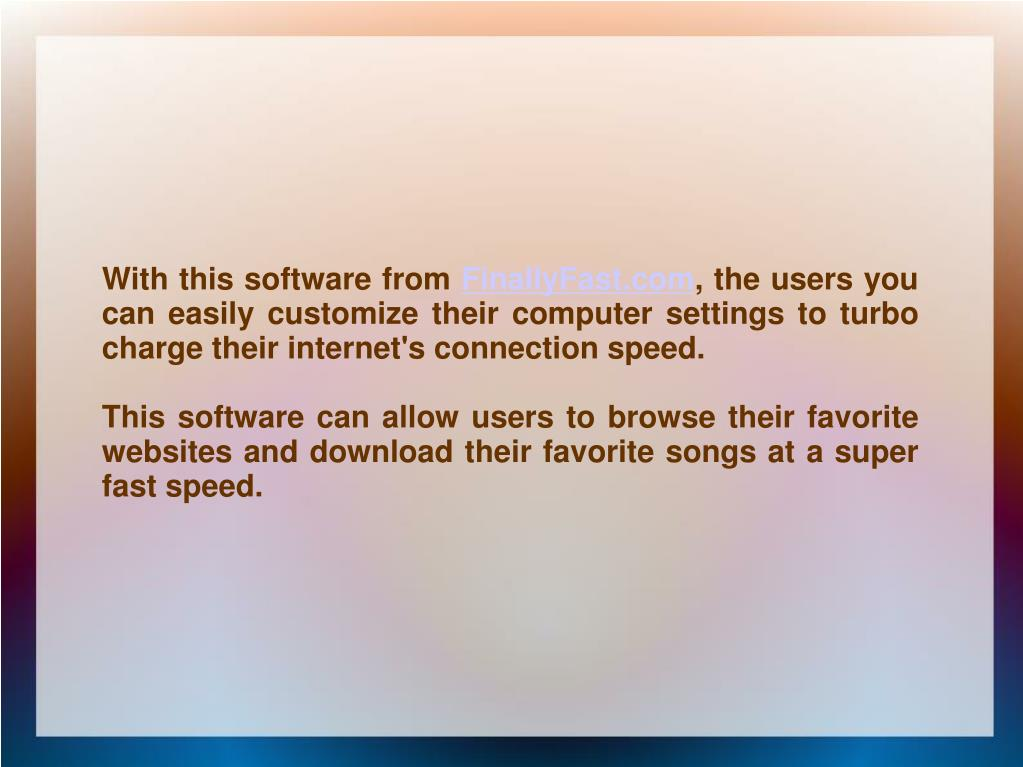 With this software from
