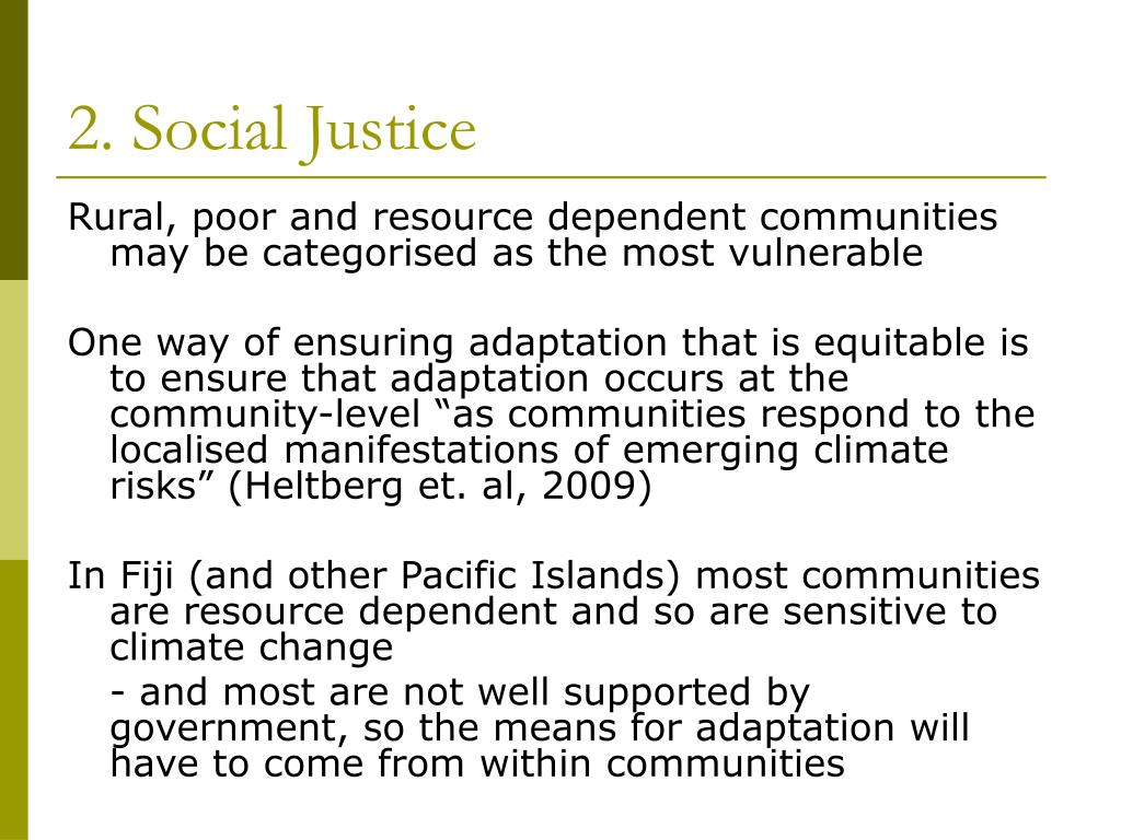 2. Social Justice