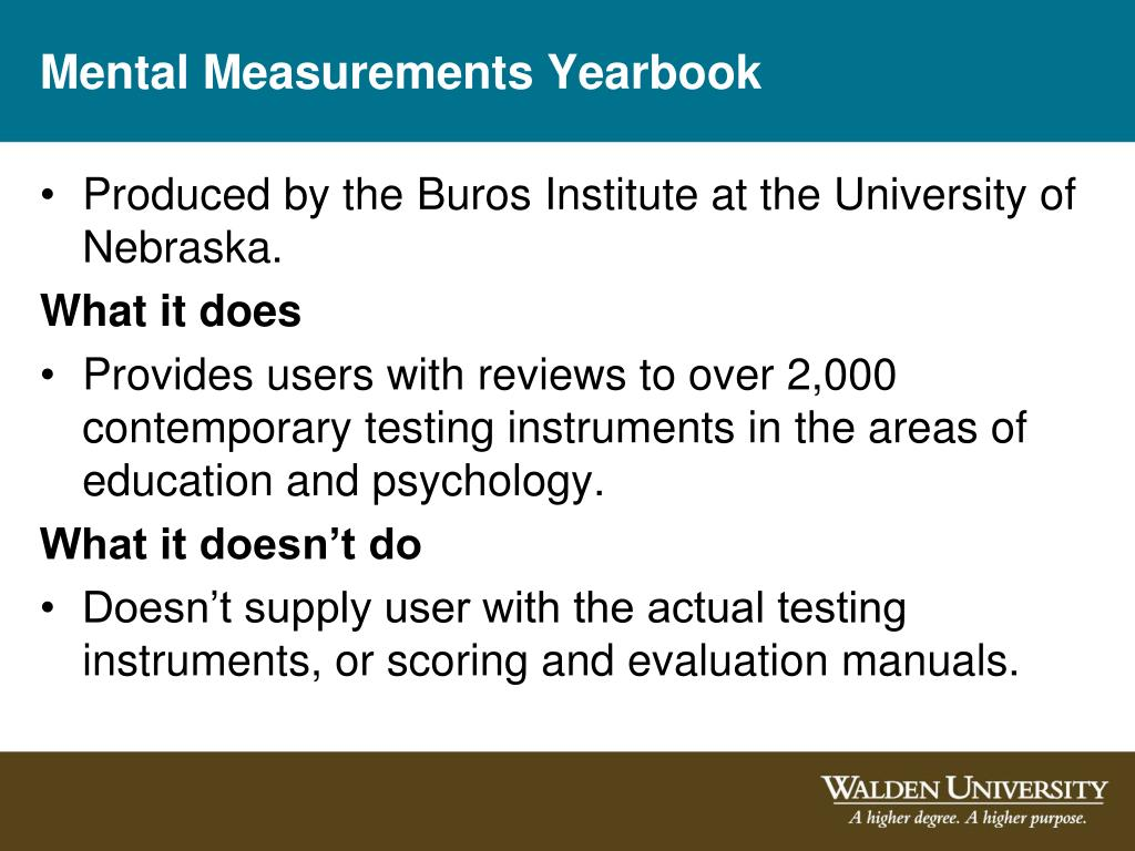 Mental Measurements Yearbook