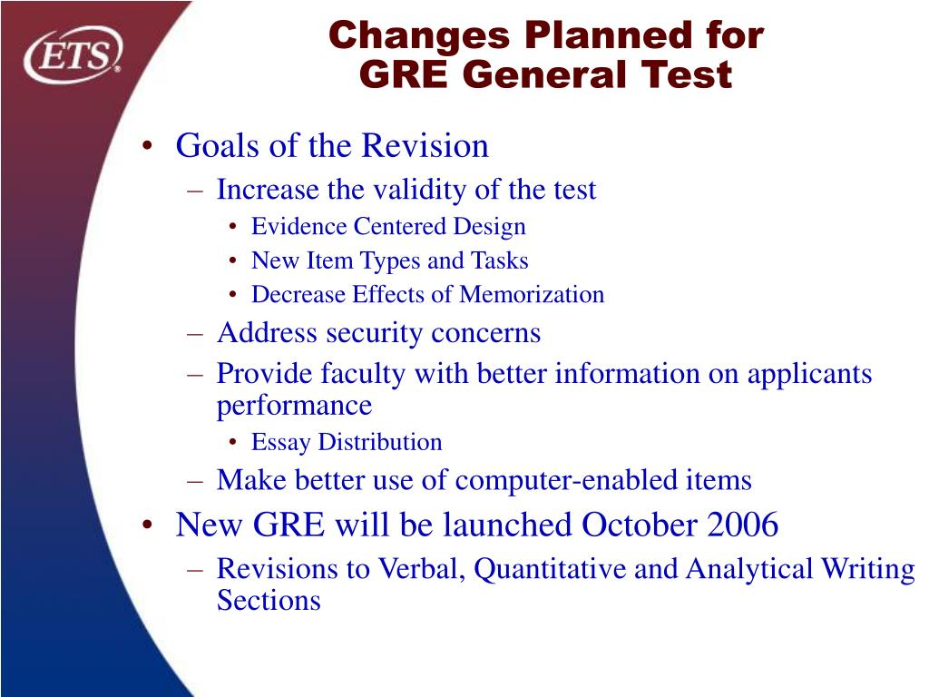 Changes Planned for