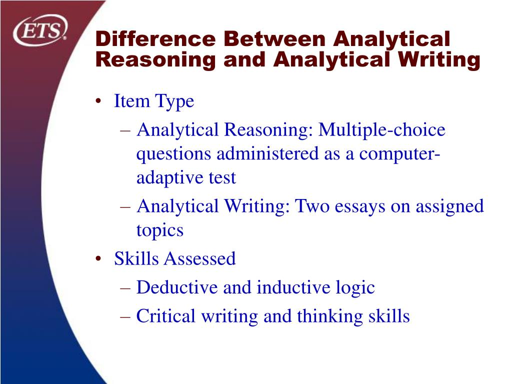 Difference Between Analytical Reasoning and Analytical Writing