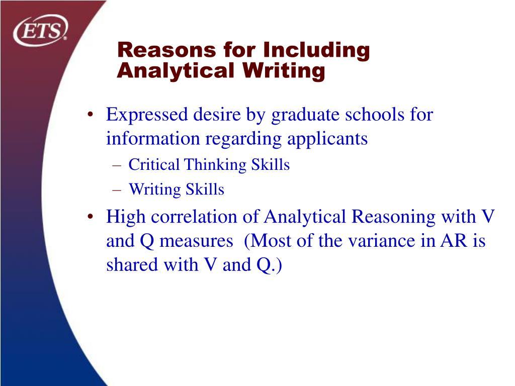 Expressed desire by graduate schools for information regarding applicants