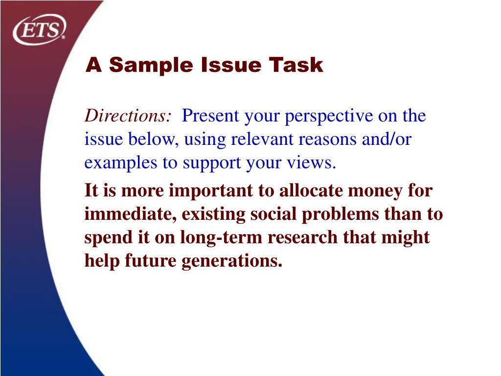 A Sample Issue Task