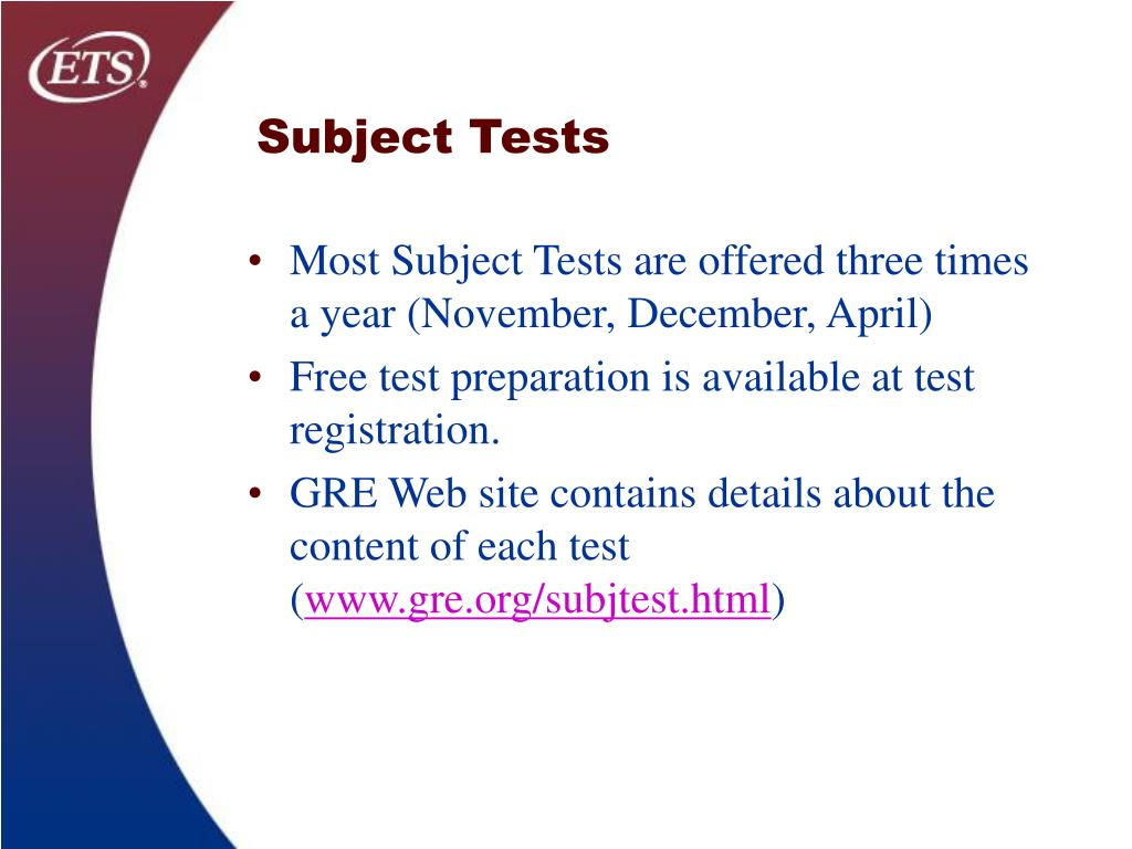 Subject Tests