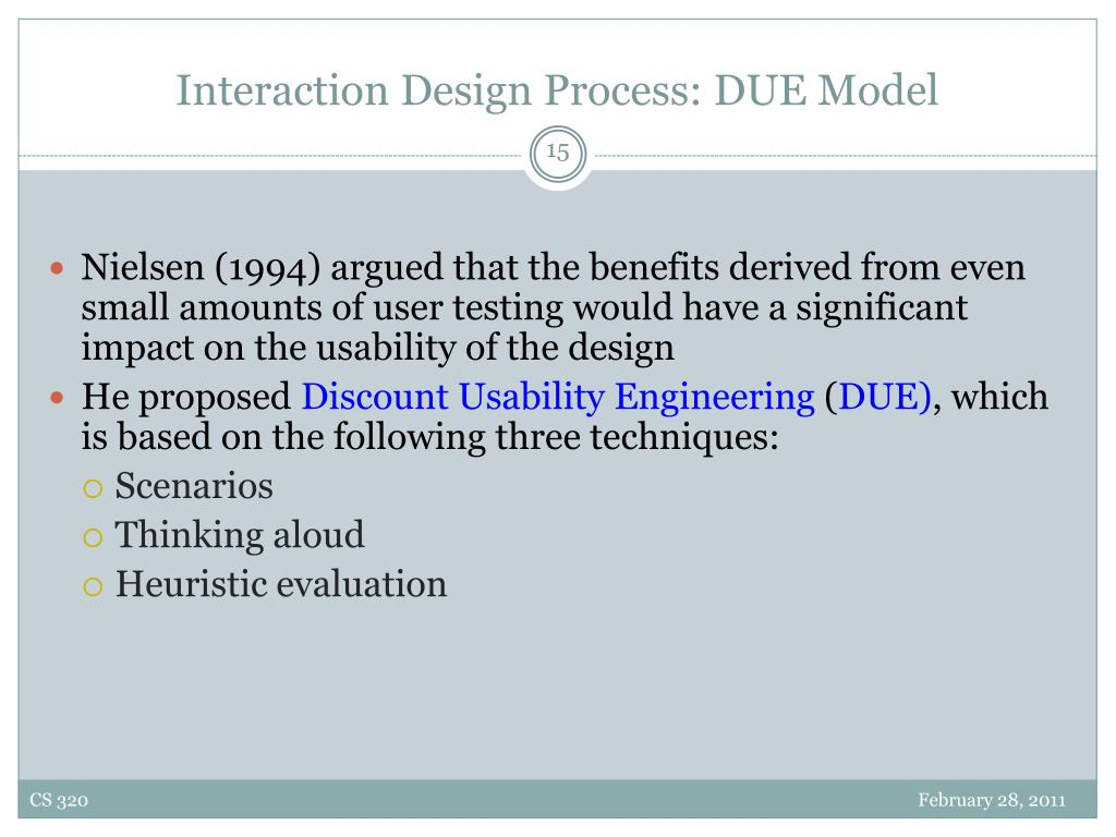 Interaction Design Process: DUE Model