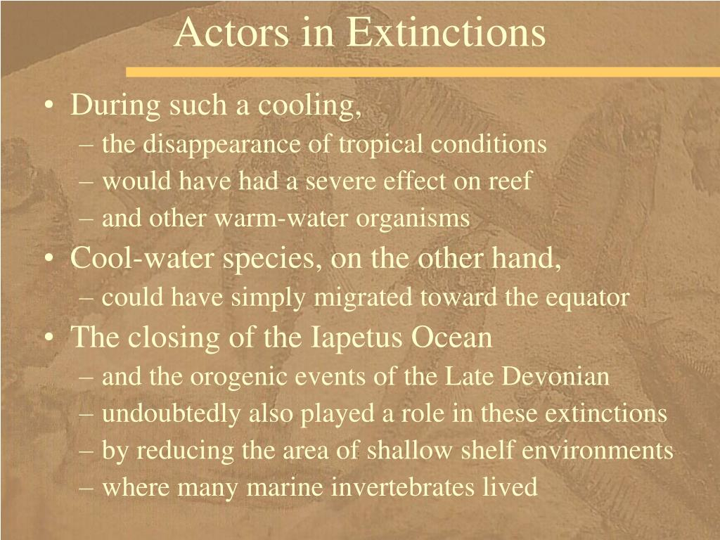 Actors in Extinctions