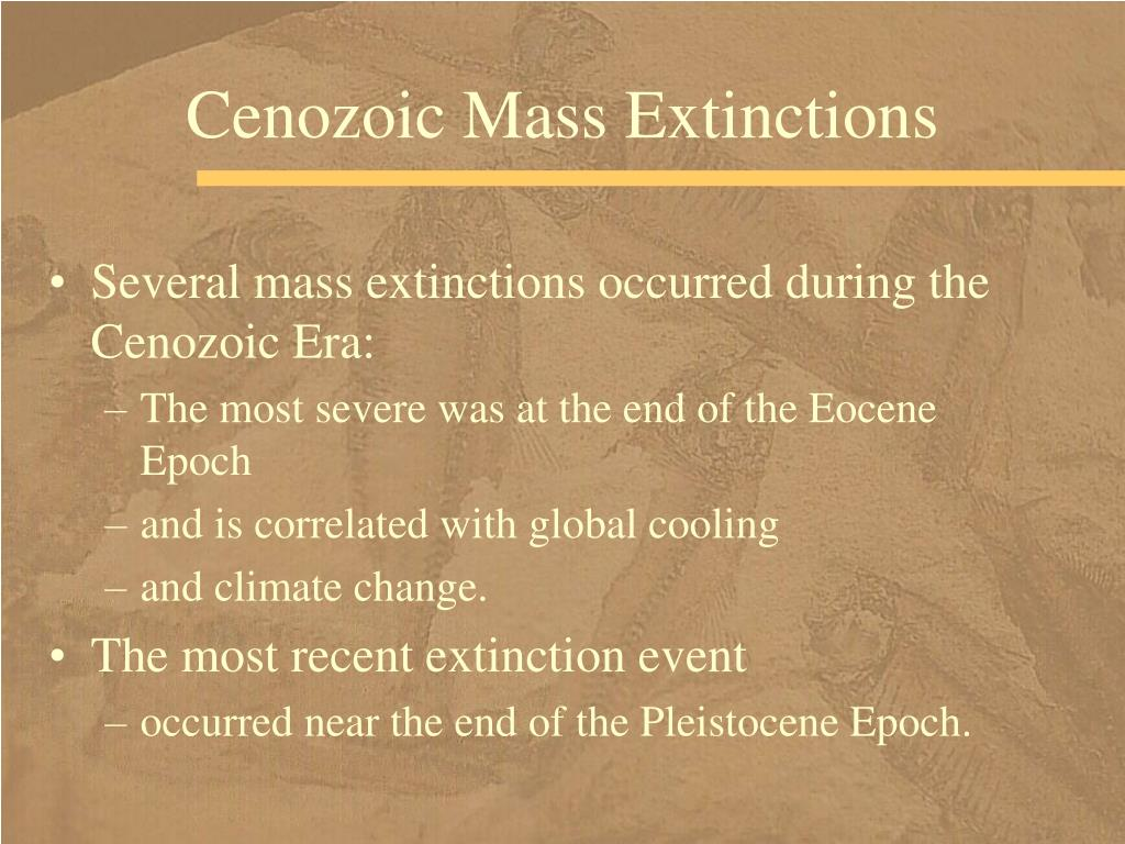 Cenozoic Mass Extinctions