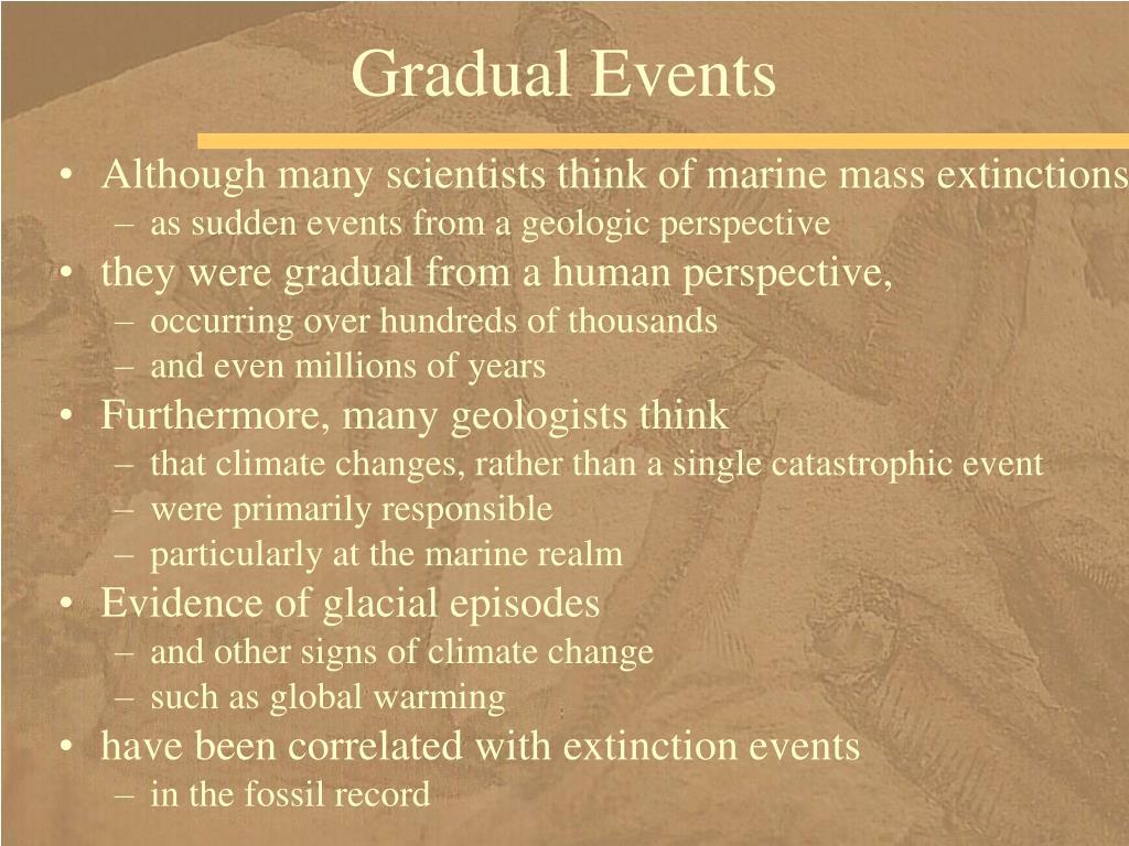 Gradual Events