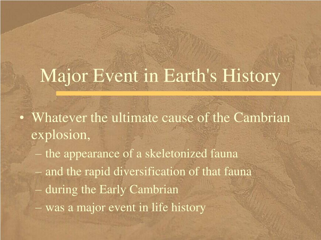 Major Event in Earth's History