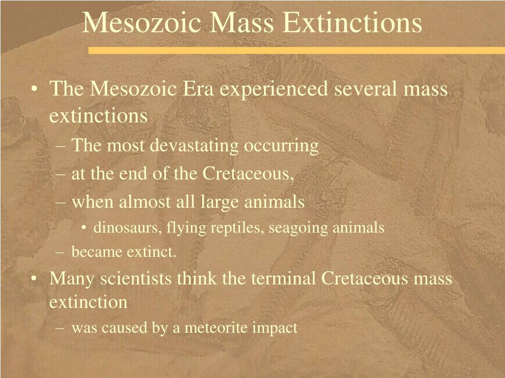 Mesozoic Mass Extinctions