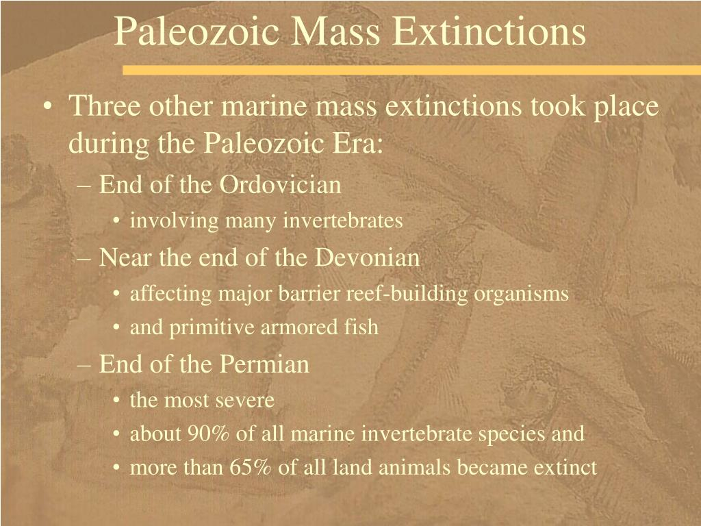 Paleozoic Mass Extinctions
