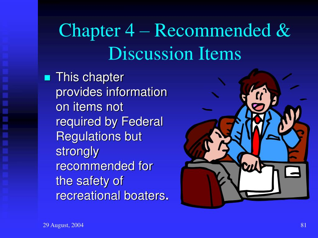 Chapter 4 – Recommended & Discussion Items