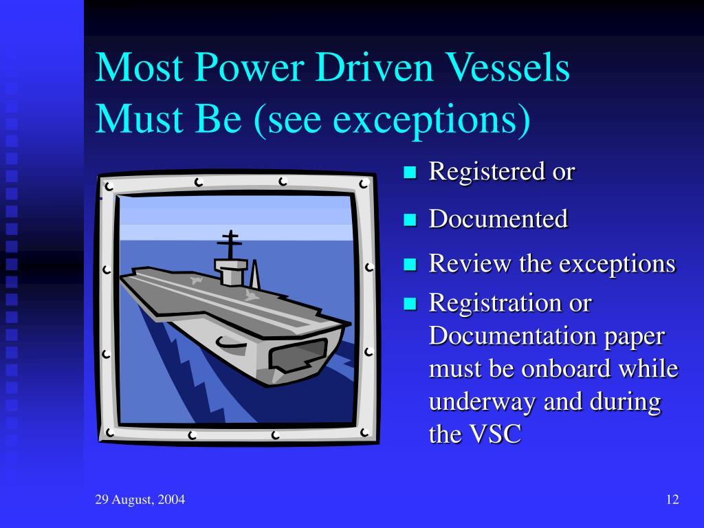 Most Power Driven Vessels