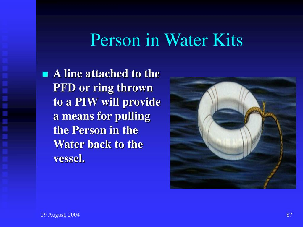 Person in Water Kits