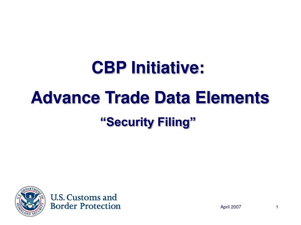 CBP Initiative: