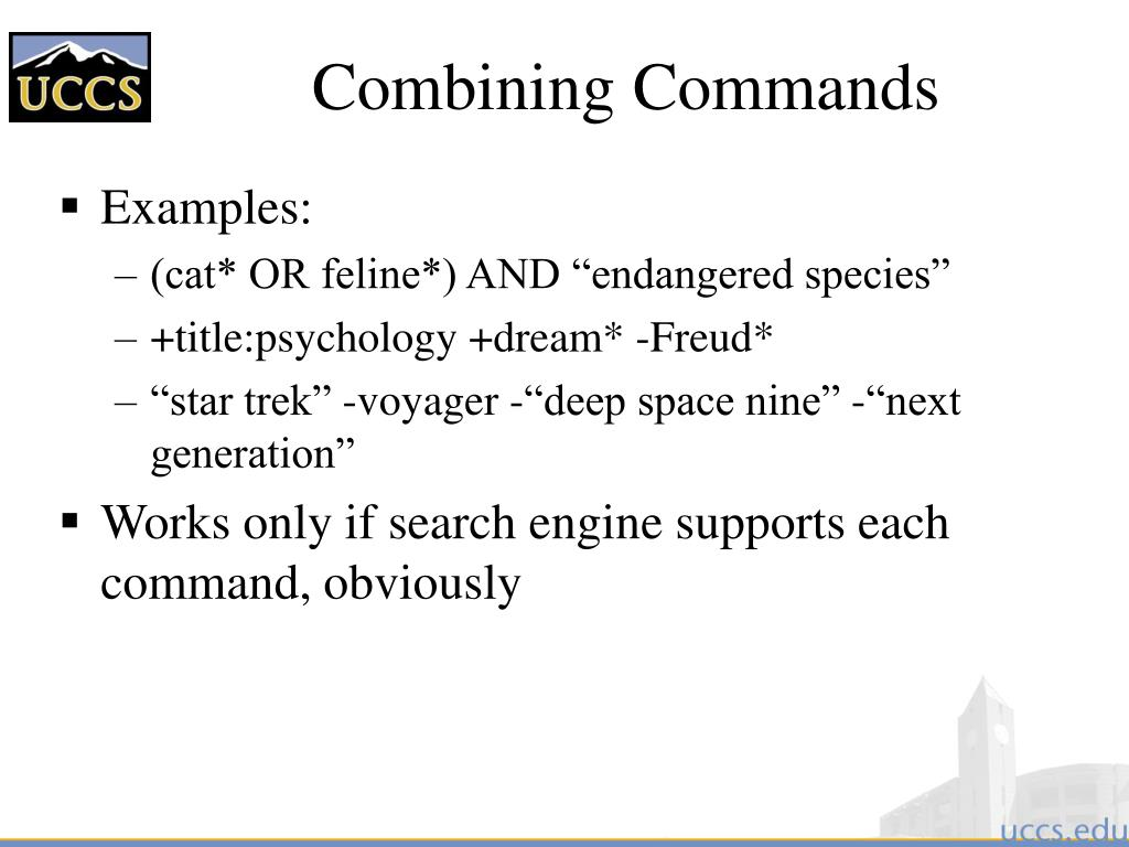 Combining Commands