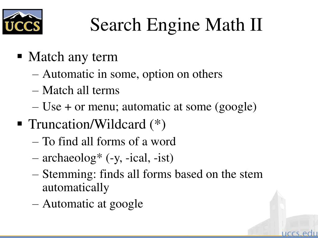 Search Engine Math II