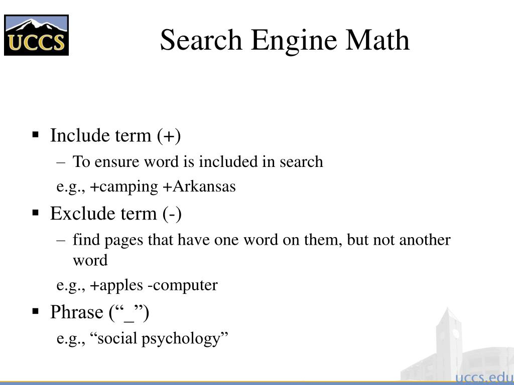 Search Engine Math