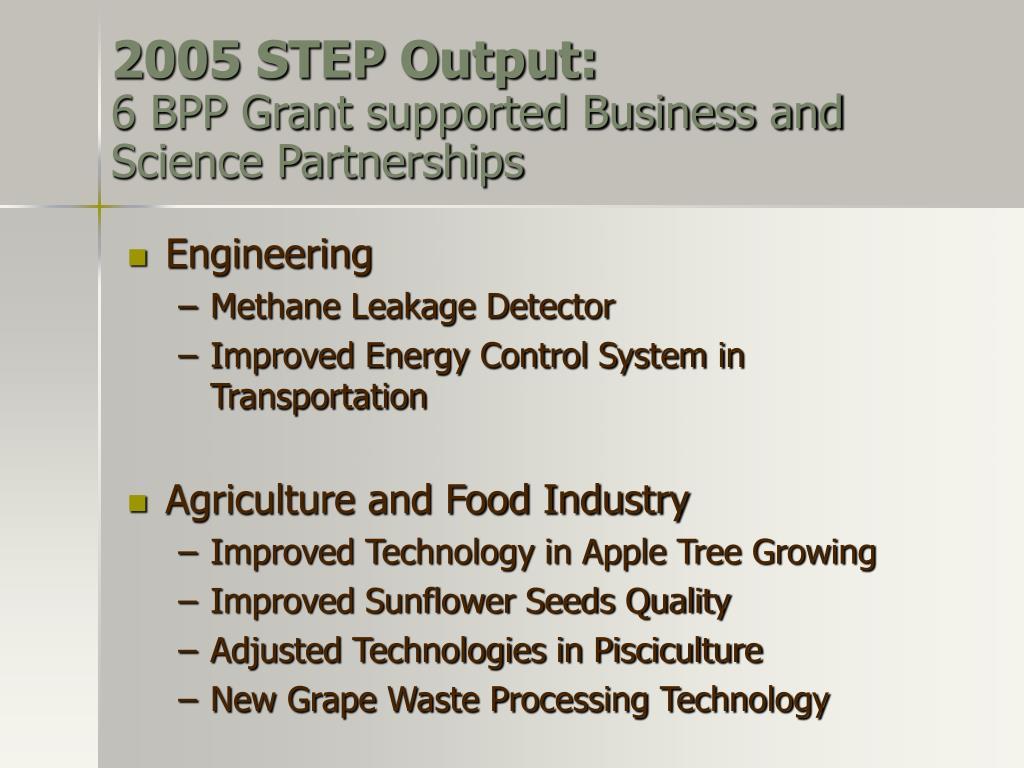 2005 STEP Output: