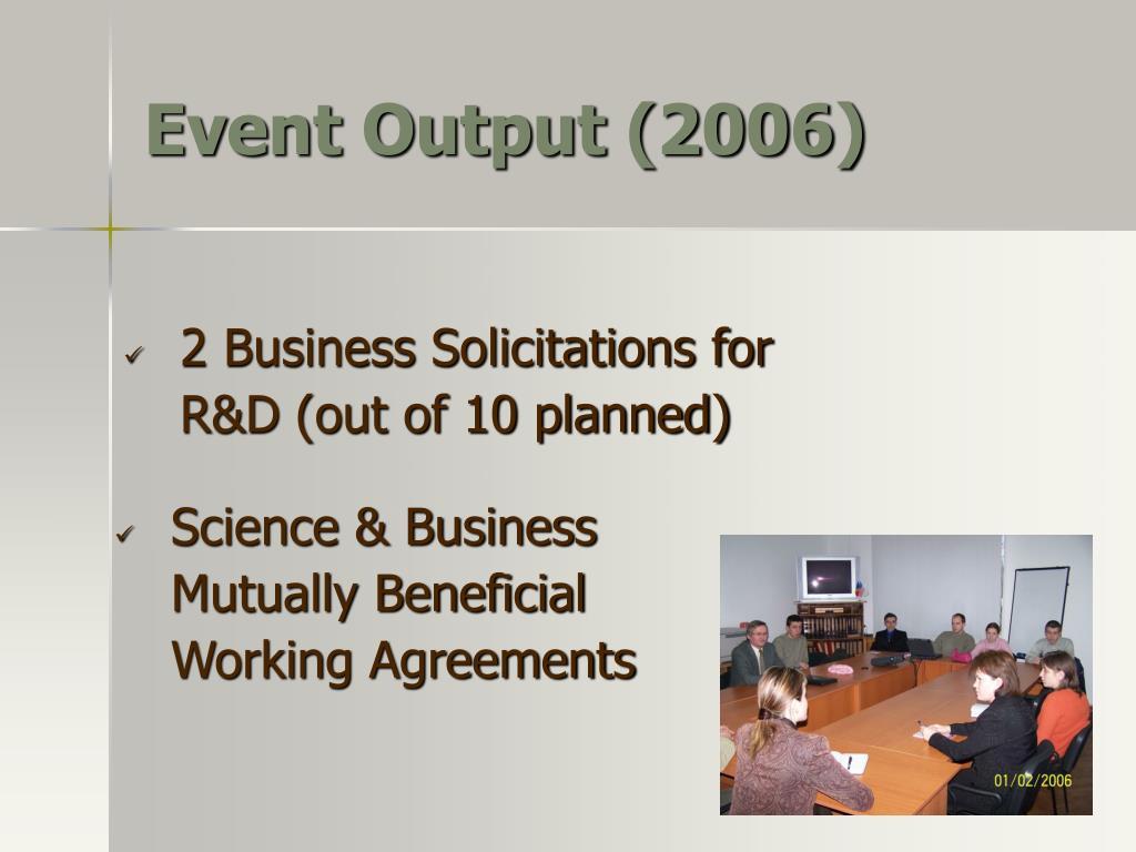 Event Output (2006)