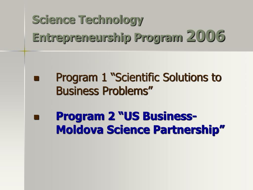Science Technology Entrepreneurship Program