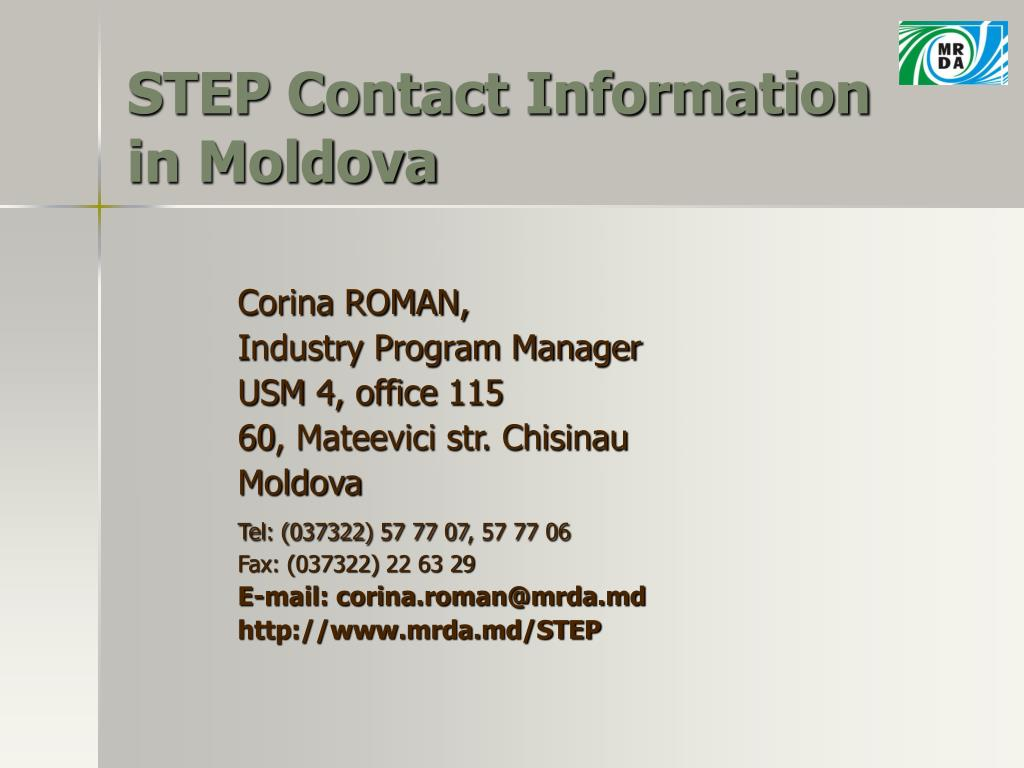 STEP Contact Information in Moldova