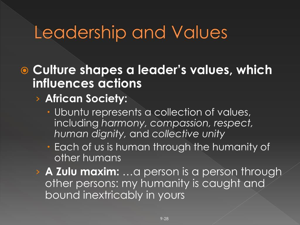 Leadership and Values