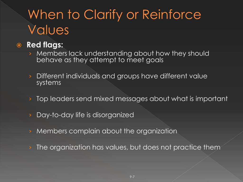 When to Clarify or Reinforce Values