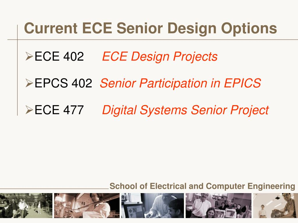 Current ECE Senior Design Options