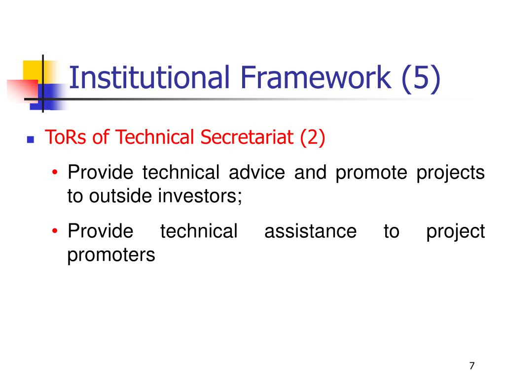 Institutional Framework (5)
